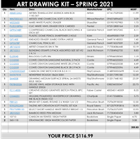 ART DRAWING KIT - optional for the course ART 100