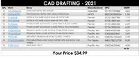DRAFTING CAD KIT - required for the course CAD 141
